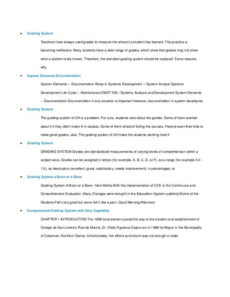 dissertation grades thesis computerized grading system
