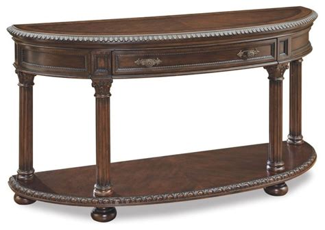 Traditional Sofa Table by A R T Demi Lune Sofa Table Traditional Console