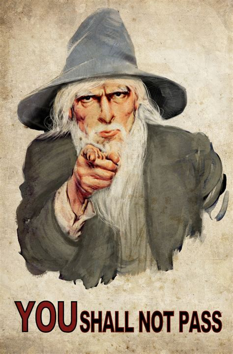 Uncle Sam Meme - gandalf you shall not pass meme