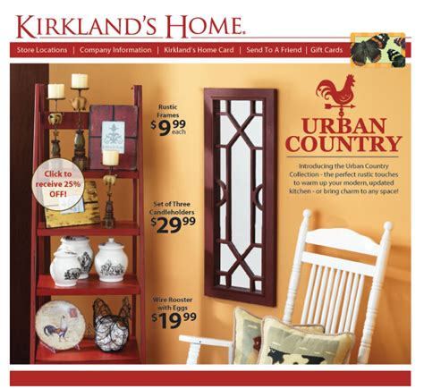kirklands home decor store urban country decor kirklands new collection