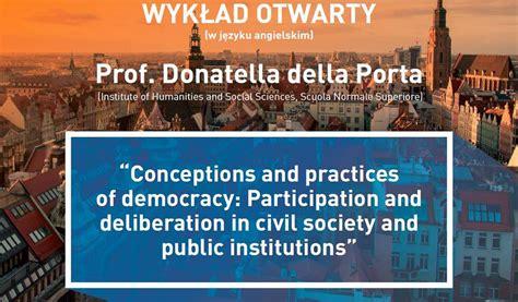 donatella della porta wykład prof donatella della porta www wroclaw pl