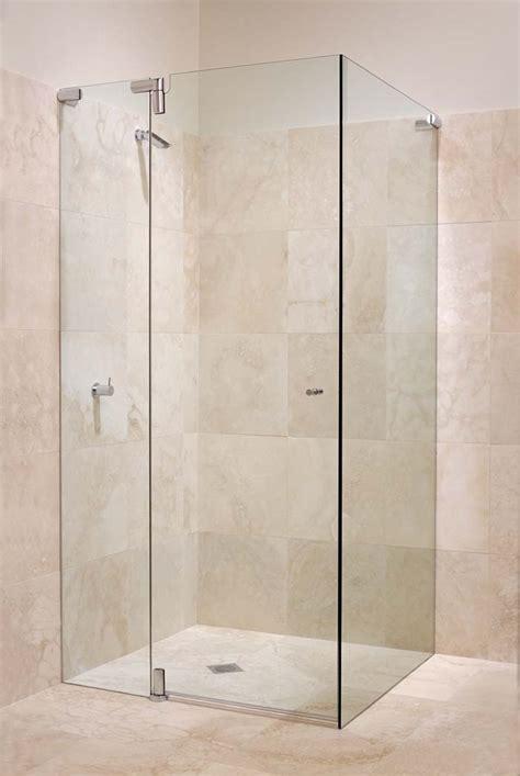 Beautiful Bathroom Shower Glass Door Price #9: White_bathroom_frameless_pivot_shower_screen-6.jpg