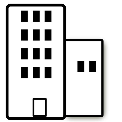 wohnung clipart apartment black and white clipart