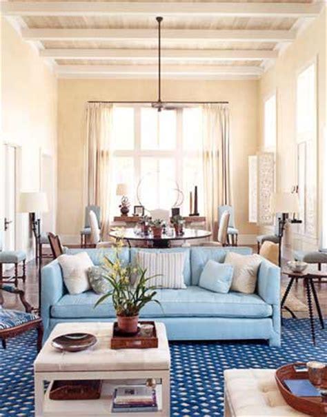 caribbean themed living room caribbean style light blue home designed by tom scheerer