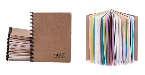 sketchbook paper resketch reclaimed paper sketchbooks tools and toys
