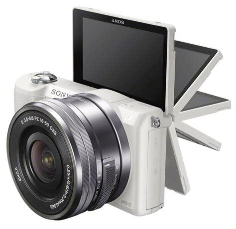 Kamera Sony Ilce 5000l sony alpha 5000 a5000 systemkamera inkl 16 50mm objektiv in weiss ebay