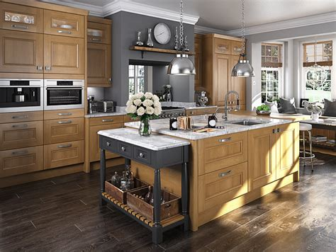 Oak Kitchen Units by The Manufacturing Process For This Kitchen Requires The