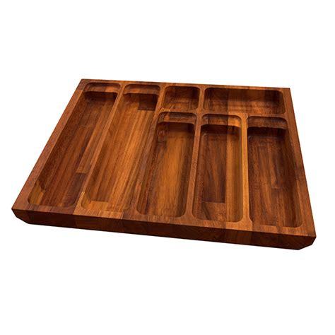 solid iroko cutlery drawer inserts worktop express