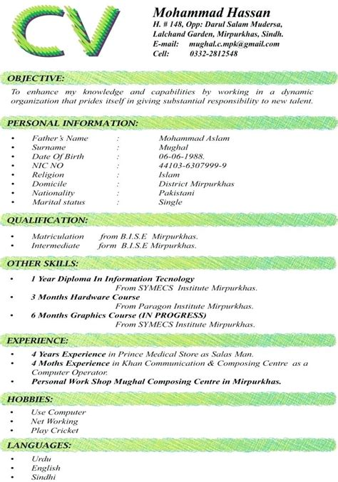 5 curriculum vitae examples download theorynpractice