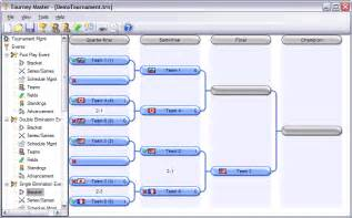 tourney master 3 5 0 by northbyte tournament software for