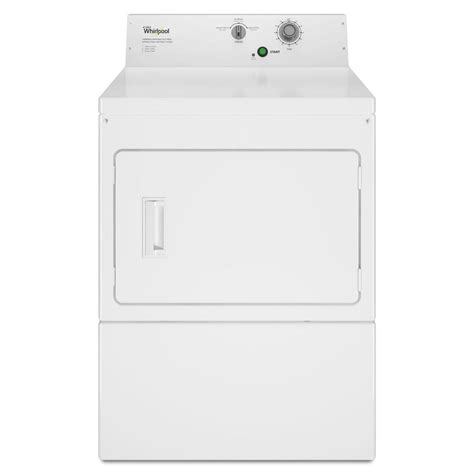 whirlpool 7 4 cu ft commercial electric dryer in white