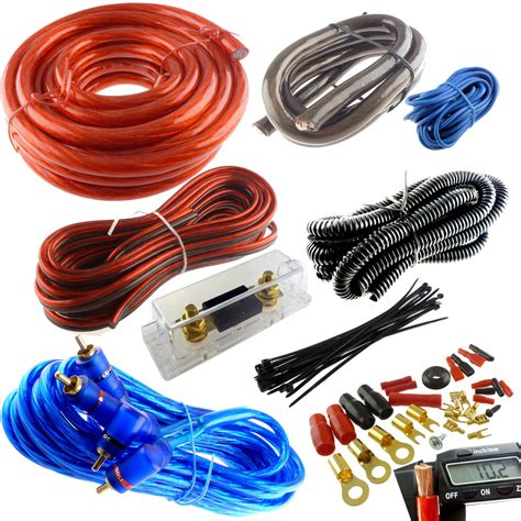 Power Kit Lifier Audio Profesional 3000w Phb 250 4 premium power wire wiring kit 3000w anl install car lifier install ebay