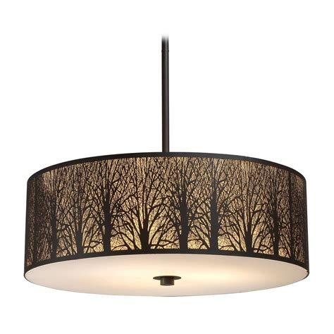 Pendant Drum Light Drum Pendant Light With Glass In Aged Bronze Finish 31075 5 Destination Lighting