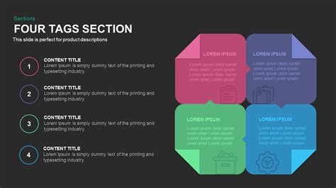 section tags four tags section powerpoint and keynote template