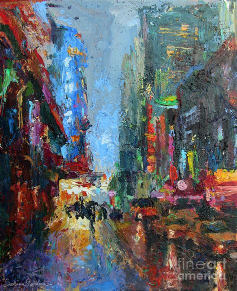 acrylic painting new new york city 42nd painting painting by svetlana