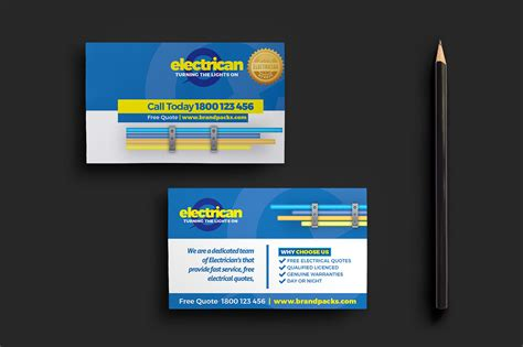 Business Cards Electrical Templates Free by Electrician Business Card Template For Photoshop