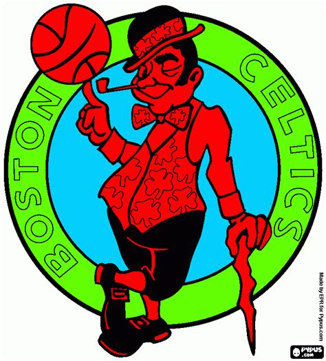 free coloring pages of celtics pages