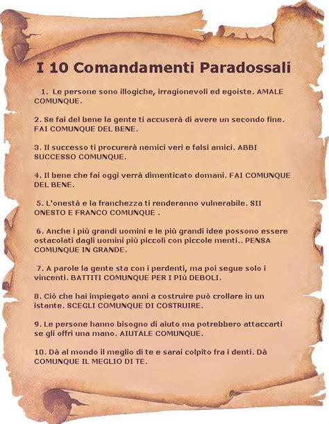 tavola dei dieci comandamenti i 10 comandamenti paradossali kent m keith