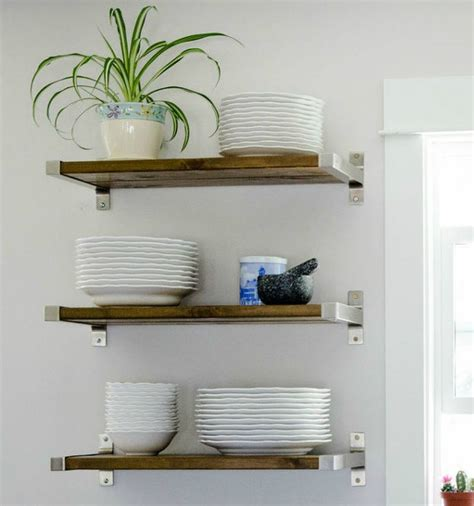 open shelves kitchen design kitchentoday 15 clever ways to add more kitchen storage space with open