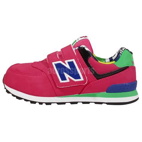 velcro running shoes new balance kv574txy w wide fuchsia velcro
