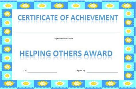 certificates for healthy eating mr printables