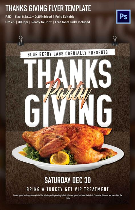 thanksgiving templates for flyers 76 thanksgiving templates editable psd ai eps format