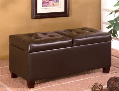 black friday ottoman black friday dark brown leather like storage ottoman sale
