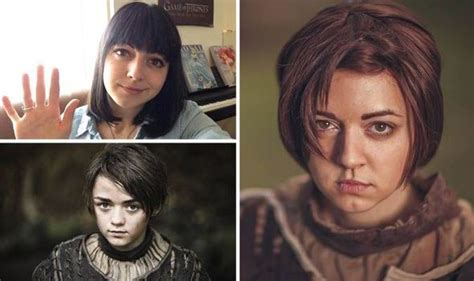 michelle fairley maisie williams look alike arya stark lookalike bombarded by messages from game of