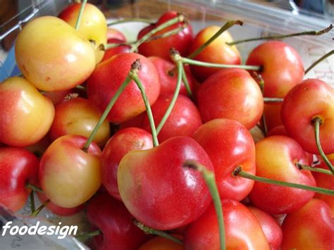 foodesign rainier cherries