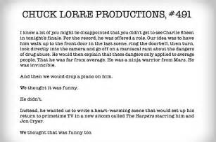 sheen threatens chuck lorre for his two and a half