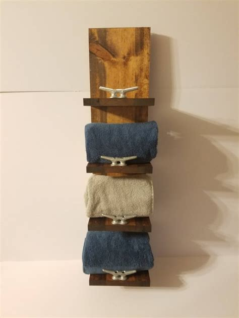 rustic bathroom towel racks rustic nautical towel rack four shelf bathroom decor