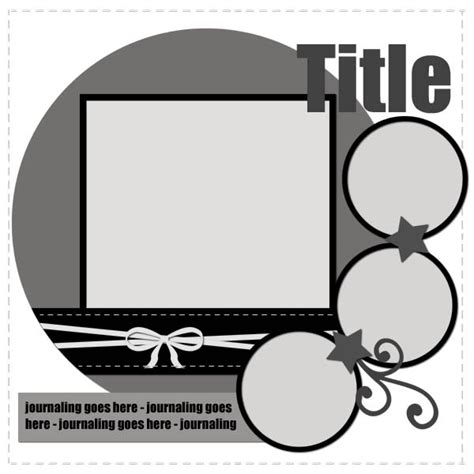 A Day In The Life Freebie Digital Scrapbooking Template 2 Scrapbook Layouts Templates