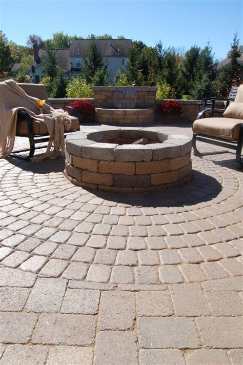 paver pit kit lowes wondrous patio paver circle kits from lots of rectangle
