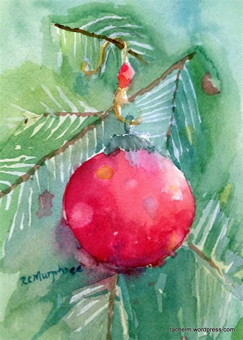 ornament 1 or ornament 2 rachel murphree watercolors