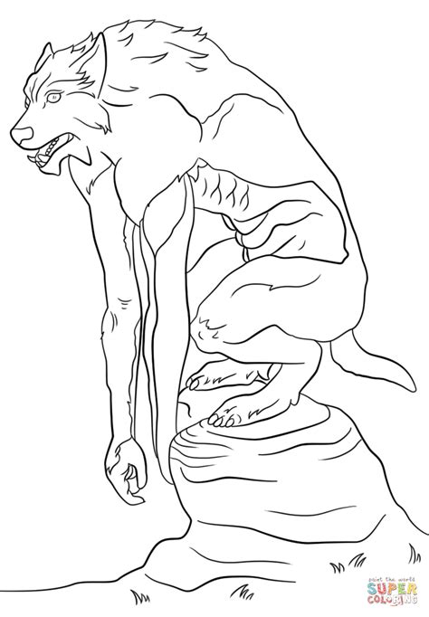 halloween coloring pages werewolf halloween werewolf coloring pages