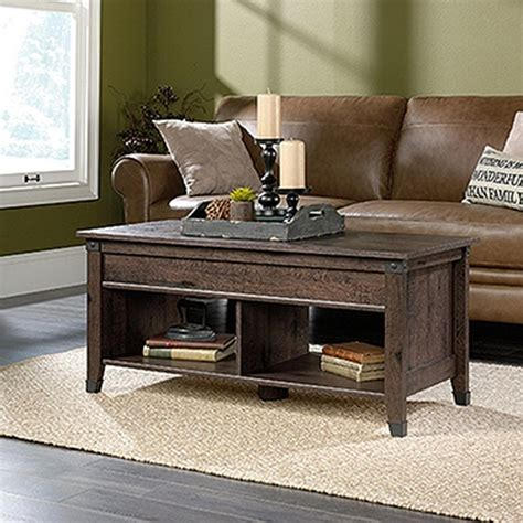 Sauder Coffee Table Sauder Carson Forge Coffee Oak Extendable Coffee Table 420421 The Home Depot