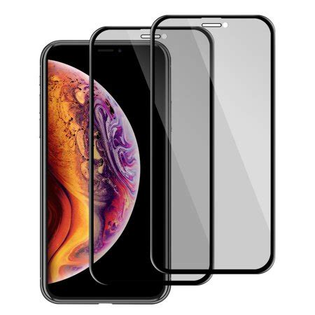 apple iphone xs max screen protector by insten 2 pack privacy filter anti tempered glass