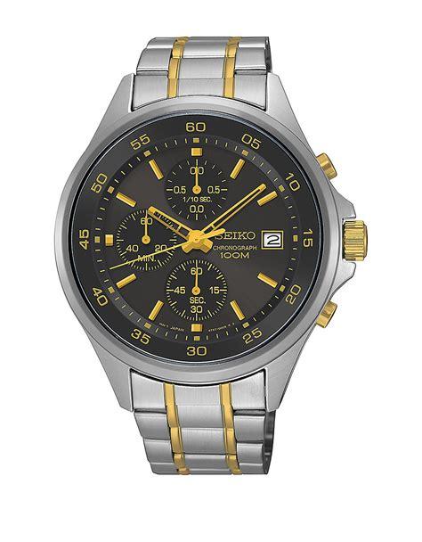 Silver Chrono Aktif 1 seiko sks481 chrono two tone stainless steel chronograph