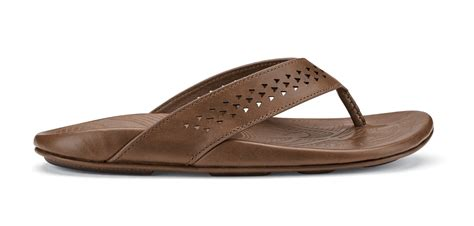 mens sandals with arch support olukai kohana s leather sandal with arch support