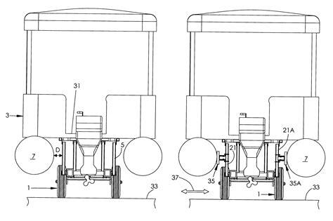 pontoon boat trailer design patent us6648360 combination pontoon boat trailer and