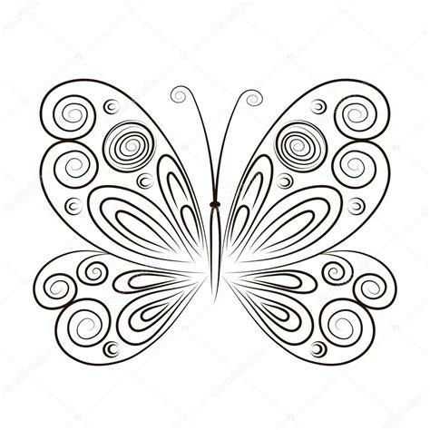 Illustration De Vecteur Dessin Main Que Papillon Isol Sur Fond Insecte Dessin Illustration De Dessin De Papillon Noir Sur Fond Blanc L