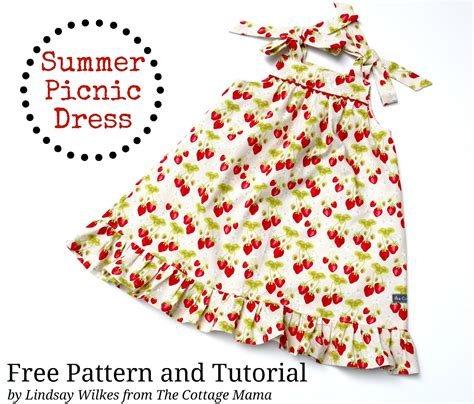 pattern making tutorial pdf summer picnic dress free pdf pattern and tutorial the