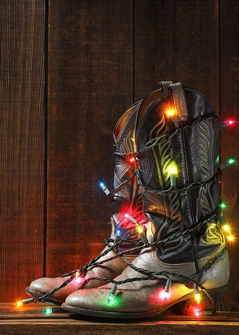 lighted cowboy boots christmas cards from brookhollow