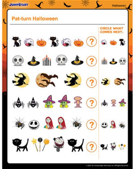 kindergarten halloween pattern worksheets halloween worksheets for preschool free halloween