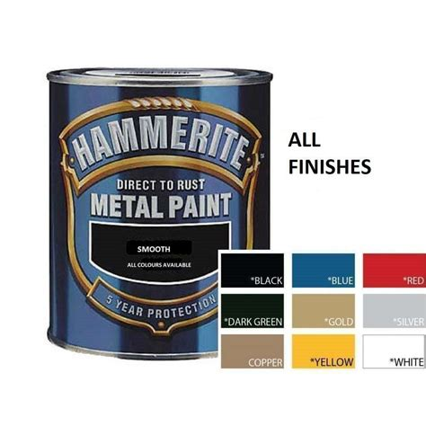 metal paint colors hammerite direct to rust metal paint 250ml all colours