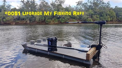 pontoon raft 0051 upgrade the fishing raft with an quot electric outboard