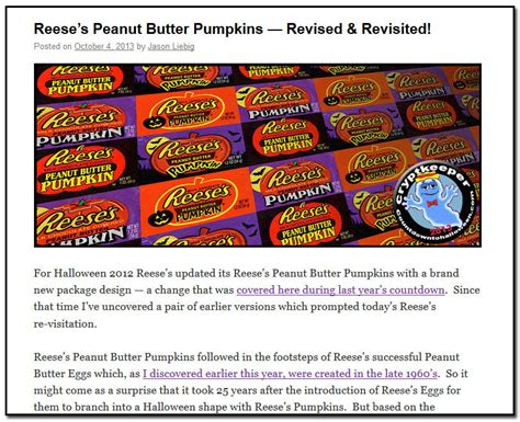 Reese Revisited by Countdowntohalloween Past Years Recap Part One Of Two