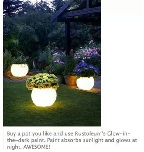 glow in the paint yard diy glow in the plant pots garden ideas