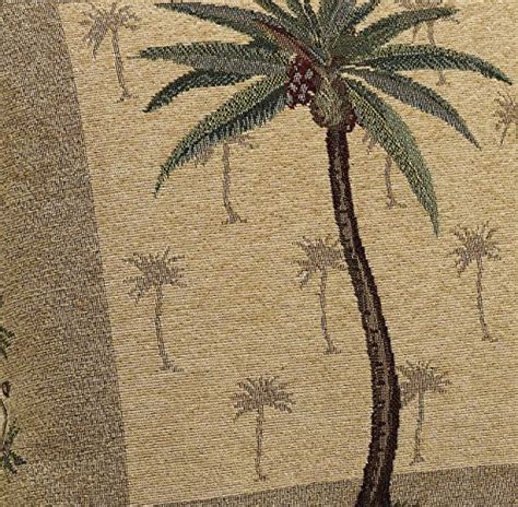 Brentwood Originals Curtains Brentwood Originals Panama Jacquard Chenille 18 By 18 Inch Decorative Pillow Palm Tree Home Decor