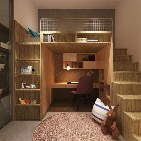 loft bed alternative bed desk combos save space and add interest to small rooms